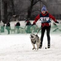 Таня и Тигра в Красногорске, 3 место в скиджоринге