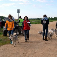 Таня и Тигра на старте: Калуга dog race